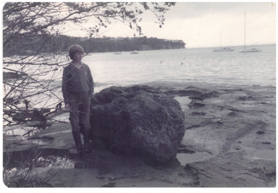 Anchor stone in the Turanga River; La Roche, Alan; 1/07/1982; 2017.078.22