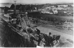 Construction of concrete road, Howick; circa 1930; 9861
