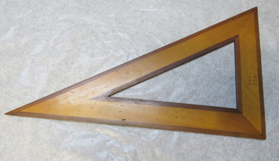 Set Square - part of Col Morrow's survey tools