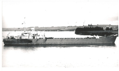 LST Rawhiti in Tamaki River, Pakuranga at McCallums's landing.; 1947; 2016.497.96