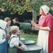 Ros Palmer, dressed as a washerwoman with children on a Live Day, HHV.  ; 22 August 2006; 2019.196.09