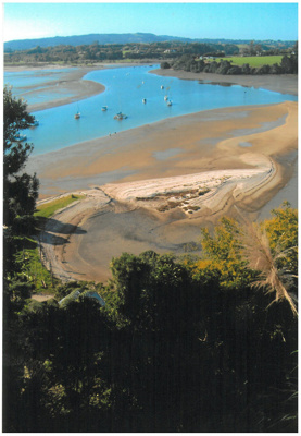 The sandspit at Shelly Park; La Roche, Alan; 1/04/2011; 2017.214.37