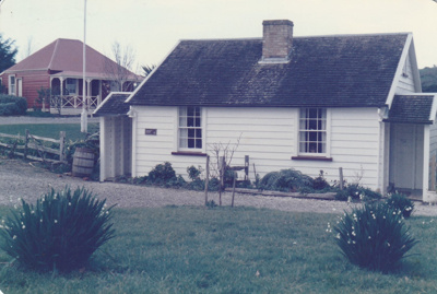 Briody-McDaniel's cottage, previously McDermott's, at the Howick Historical Village.; La Roche, Alan; August 1986; P2020.98.06