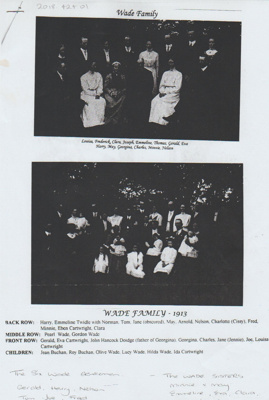 The Wade family in 1913; 1913; 2018.424.01