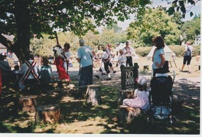Morris dancers at Howick Historical Village.; c1995; 2019.133.13