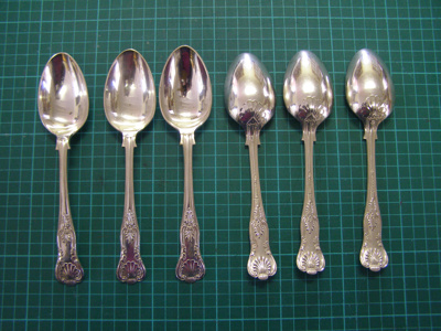 Spoons Silver Plate; O2015.68.1 to 6