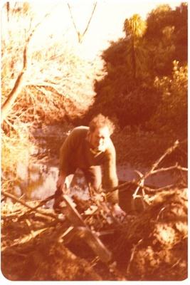 David Edwards retrieving an old plough.; La Roche, Alan; 1/07/1950; 2016.471.66