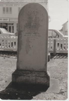 James White's grave in All Saints Church cemetery.; La Roche, Alan; 1/03/1991; 2018.217.87