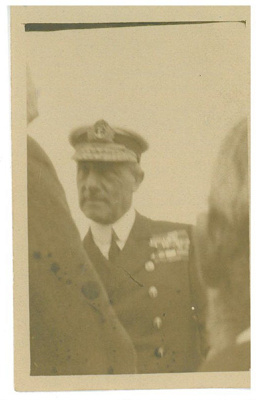 Lord Jellicoe at the obelisk unveiling; c1920; 2016.319.79