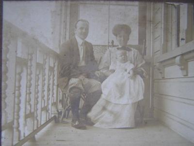 Family photo on card; 1907