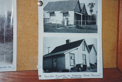 Fencible cottage in Allenby Road which was moved to Howick Hustorical Village and is now Sergeant Ford.s cottage.; La Roche, Alan; 2017.261.17