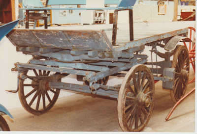 A delivery cart in the Clydesdale Museum.; 30/08/1981; 2017.553.34