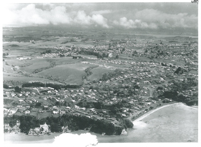 Cockle Bay aerial, c1960; Whites Aviation; c1960; 2017.219.38