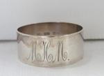 Silver serviette ring; O2017.153.04