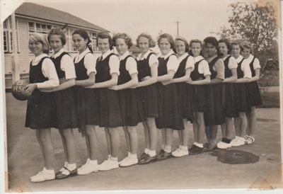 Howick District High School Basketball team; Sloan, Ralph S; 1951; 2019.071.42