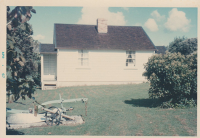 A restored fencible cottage in the Garden of Memories, Howick.; 1967; 2019.091.15