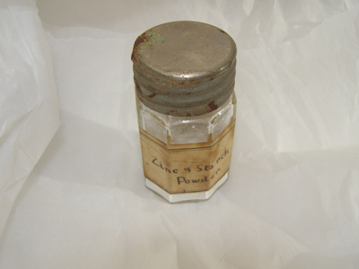 Glass Container with detachable lid.; 2011.36.1 A+B+C