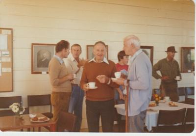 Working bee volunteers at Howick Historical Village.; 1980; 2019.129.18