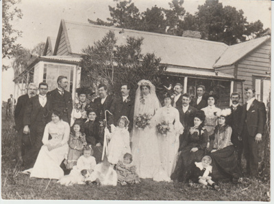 Wedding of Britta A Mattson to John Thomas Graham; 1906; 2018.127.00