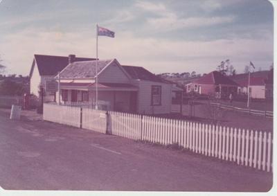 Brindle Cottage, then entry to the Historic Village; La Roche, Alan; 1/03/1983; 2019.109.05