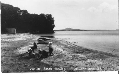 Mellons Beach looking west - Rangitoto in distance...