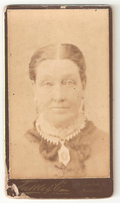 Carte de Visite of unknown woman, wearing a neckla...