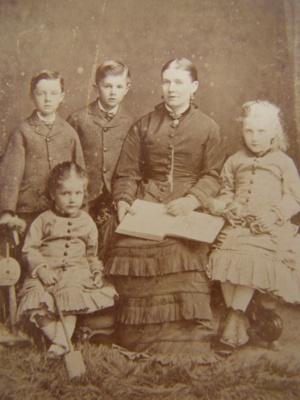 Family portrait; G. West & Son; 1880's; 2011.72.11