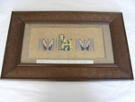 Framed illuminated calligrapy of initials 'M.H.M.'; Col. A. Morrow; c. 1880; 1992.50
