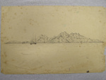 'Aden From the Roadstead 9.1.93'; Col. A. Morrow; 9th January, 1893; 2010.54.1