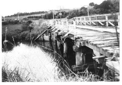 Whitford road bridge over the Turanga River; John McCaw; 1970; 4121