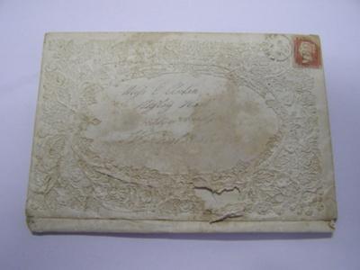 Very fragile, cream coloured English envelope. Fro...