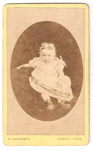 Carte de Visite of unknown baby girl.; C. Wherrett; 2010.95.1