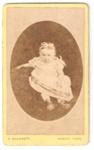 Carte de Visite of unknown baby girl.; C. Wherrett; 2010.95.1