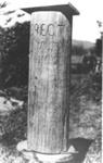 Flagpole base at Wairoa, Clevedon; Alan La Roche; c. 1930; 7355