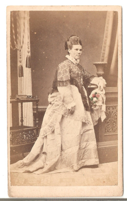 Carte de Visite of unknown woman. BW. Partially co...
