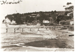 Howick Wharf and Beach c1910.; c. 1910; 6001