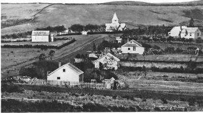Picton Street, Howick, and All Saints Church ; circa 1860; 1013