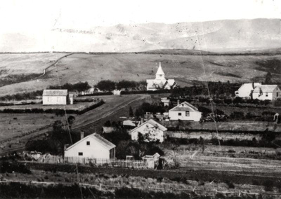 Picton St, Howick. c 1860. Shows All Saints Church...