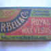 Vesta match box with matches  ; R. Bell & Company; Early 20th Century ; 2011.30.1.a & b