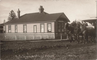 A post card of Post Office, Picton St, Howick. C 1...
