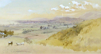 Looking towards Nelson from Hills back of Richmond - Morning; John GULLY; 1885; 35