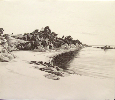 Untitled (Beachscape); Irvine MAJOR; 12 JAN 1981; 1146