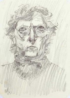 Self-portrait; Alan Pearson; 1985; 1239