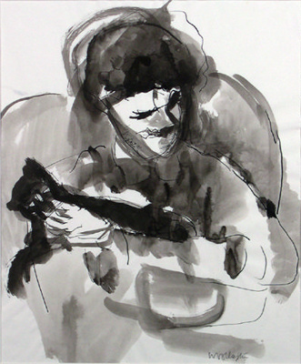 Alix Simpson with Cat; Toss WOOLLASTON; 1963; 498