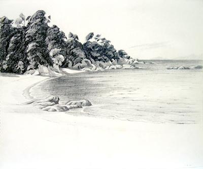 Untitled (Beachscape); Irvine MAJOR; 01 MAR 1981; 1145