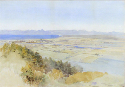 Motueka from the Riwaka Hills; John GULLY; 1888; 7