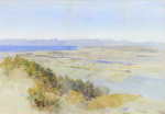 Motueka from the Riwaka Hills; John GULLY; 1888; 7