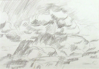 Hohonu with Clouds; Toss WOOLLASTON; 1965; 449