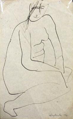 Female Nude; Toss WOOLLASTON; 1956; 434