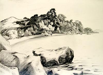 Untitled (Beachscape); Irvine MAJOR; 03 JAN 1981; 1139